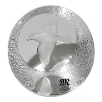 Mats Jonasson Crystal Dove Paperweight