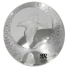 Mats Jonasson Crystal Dove Paperweight