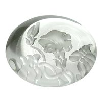Vandermark Etched Morning Glory Paperweight