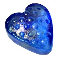 Robert Held Studio Art Glass Iridescent Heart Paperweight