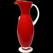 Mid-Century Vintage Murano Glass Pitcher