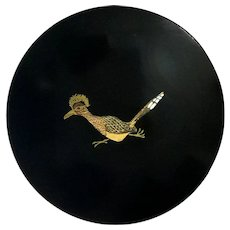 Couroc Of Monterey Road Runner Footed Bowl