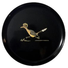 Couroc Of Monterey Round Road Runner Tray