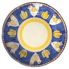 Campagna Chicken Dinner Plate By VIETRI, ITALY