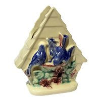 Vintage Shawnee Pottery Bird House Wall Pocket