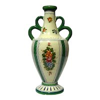 Antique Italian Deruta Pottery Vase