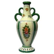 Antique Italian Deruta Pottery Vase