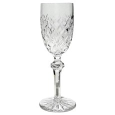 Anglo Irish Liquor Decanter 3 Ring Neck Cut Glass 1840s