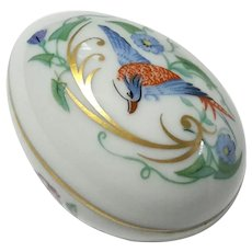 French Limoges Porcelain Egg Box