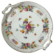 Schumann Bavaria Dresdener Art Porcelain Serving Tray