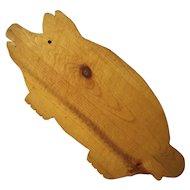 Vintage Folk Art Pig Cutting Board