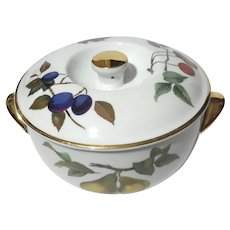 Royal Worcester Evesham Porcelain Covered Bowl