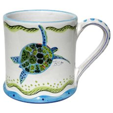 Barbara Finsness Pottery Large Turtle Mug