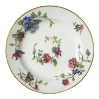 Set Of Six Hand-Painted Haviland Limoges Porcelain Desert Plates