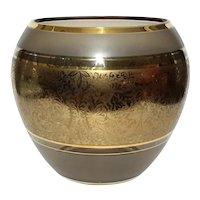 Venetian Murano Glass Gold Decorated Vase