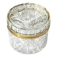 Crystal Jewel Casket With Gilt Metal Mounts
