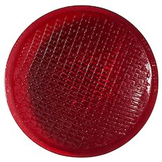 Vintage Red Traffic Light Glass