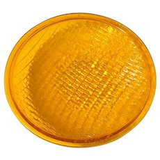 Vintage Yellow Traffic Light Glass
