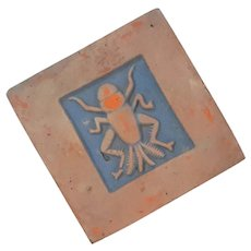 Signed Moravian Tile Of An Insect