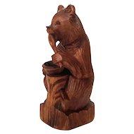 Vintage Hand-Carved Black Forest Bear