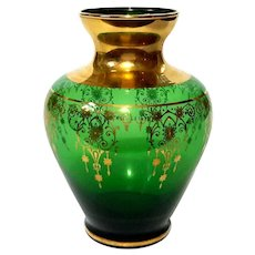 Venetian Glass Vase With Gold Decoration