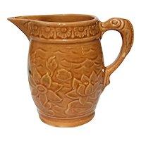 Vintage McCoy Pottery Lotus Flower Pitcher