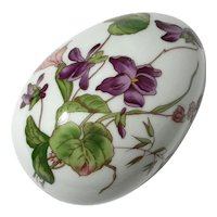 Vintage Signed Limoges Porcelain Egg Box