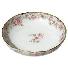French Limoges Porcelain Footed Bowl