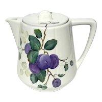 Vintage Signed Hand-Painted Porcelain Teapot