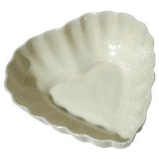 Belleek Porcelain Heart Bowl
