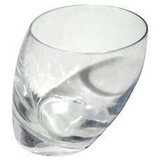 Nambe Crystal Tilt Double Old Fashioned Glass