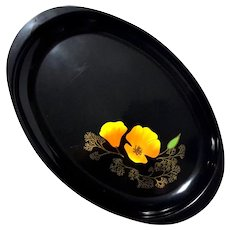 Couroc Of Monterey California Poppy Tray