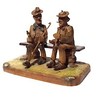 Vintage Black Forest Figural Carving