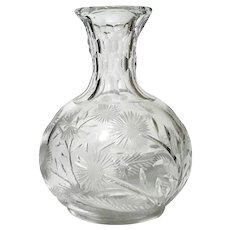 Antique Cut Glass Wine Bottle Decanter