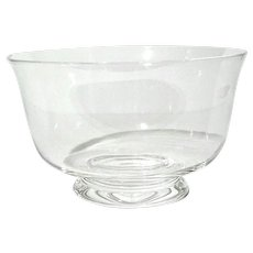 Vintage Signed Steuben Glass Footed Bowl