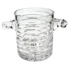Rare Block Crystal Coil Ice Bucket