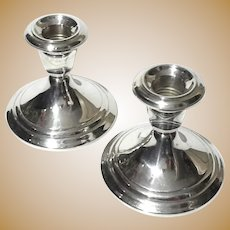 Gorham Sterling Silver Candle Holders
