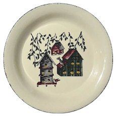 Pair Of Birdhouse Dinner Plates By HOME & GARDEN PARTY