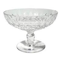 Vintage Signed Waterford Cut Crystal Pedestal Bowl