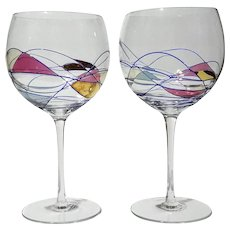 Pair Of Cornet Barcelona Balloon Wine Glasses
