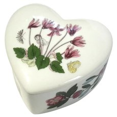 Botanic Garden Heart Shaped Box And Lid