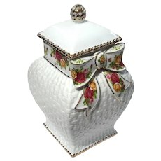 Royal Albert Old Country Roses Cookie Jar