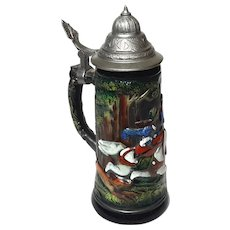 German Original King 300D 1/2 Hand-Painted Stein