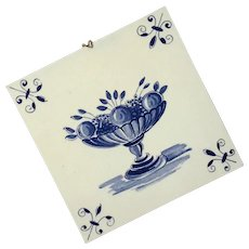 Blue And White Delft Porcelain Tile