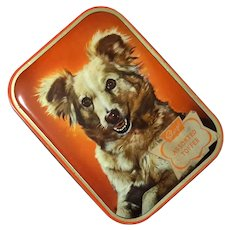 Vintage English Toffee Tin With Dog