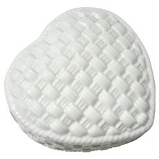 Tiffany & Co Porcelain Heart Trinket Box