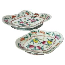 Chinese Antique Porcelain Oval Footed Bowls