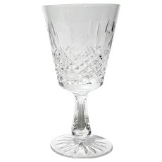 Set Of Four Waterford Cut Crystal Kenmare Water Goblets