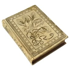 Miniature Antique Book - Daily Food For Christians