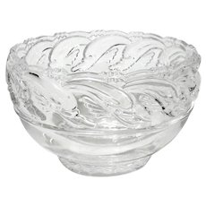Tiffany & Co Crystal Dolphin Bowl